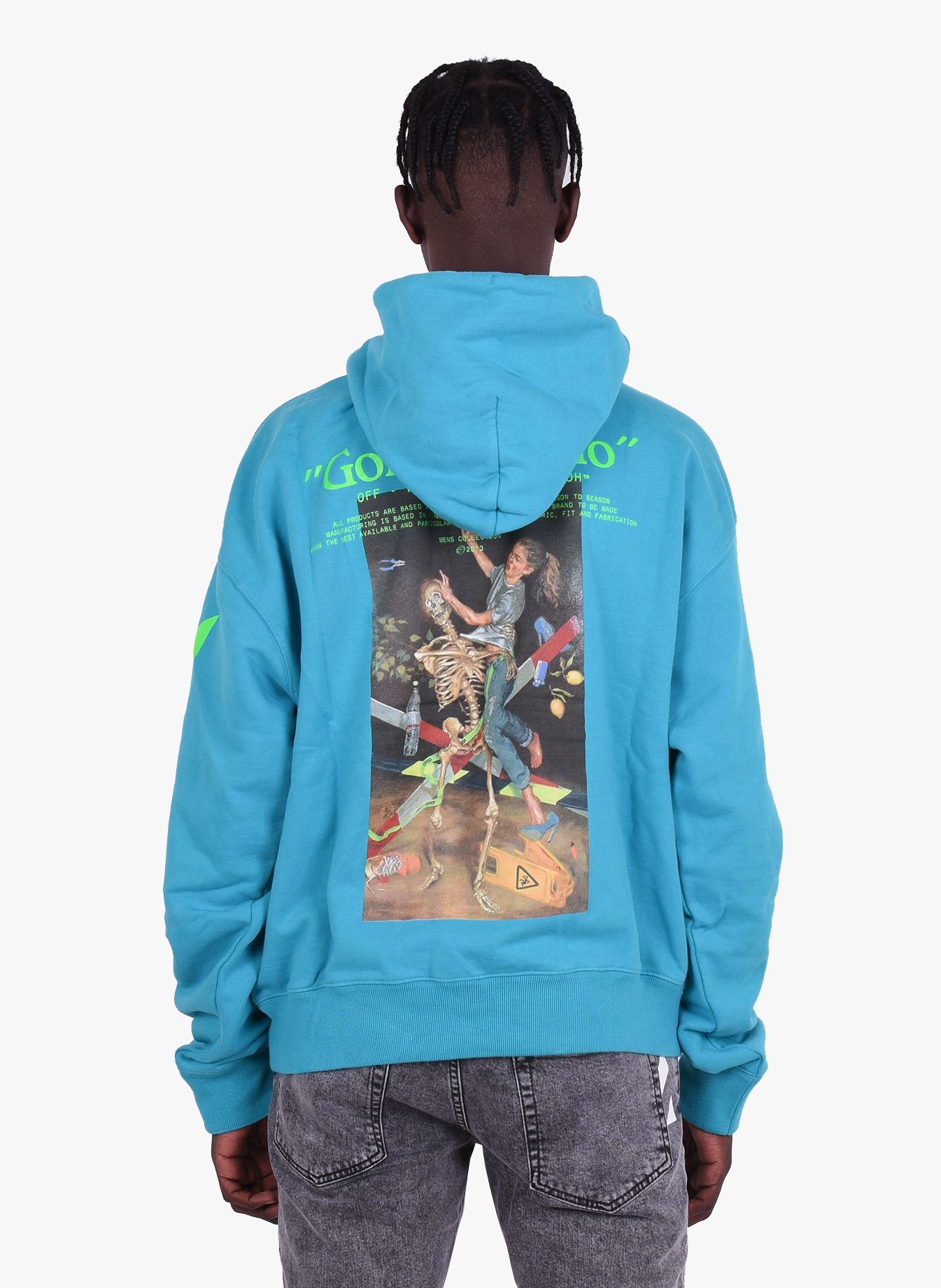 Off White 'Pascal Painting' Over Hoodie Blue