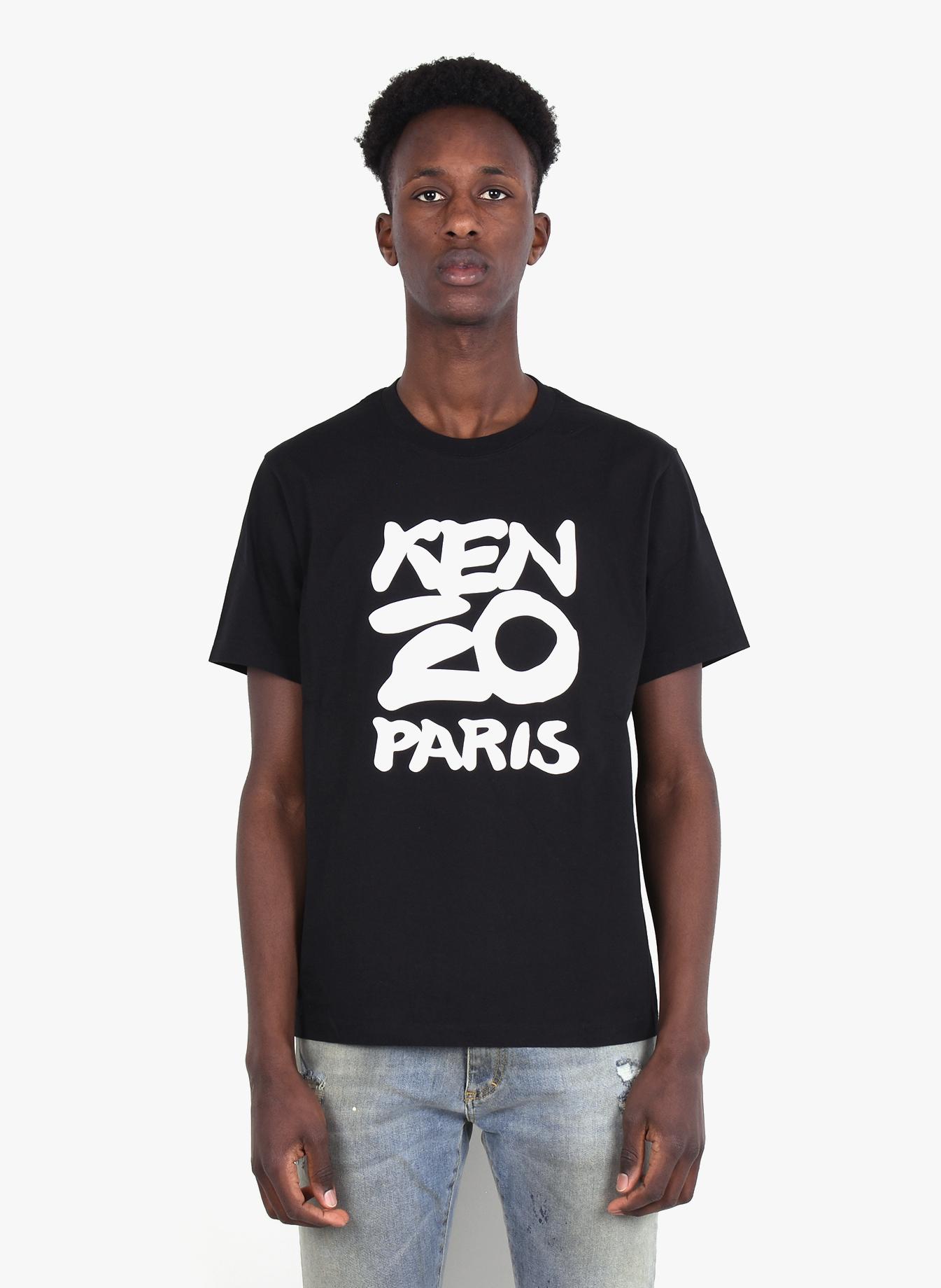 Kenzo Men/'s Mermaids Print Kenzo Paris T-Shirt