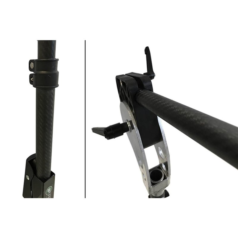 Carbon LS-3FH stand van Pro PDR met uitschuifbare arm