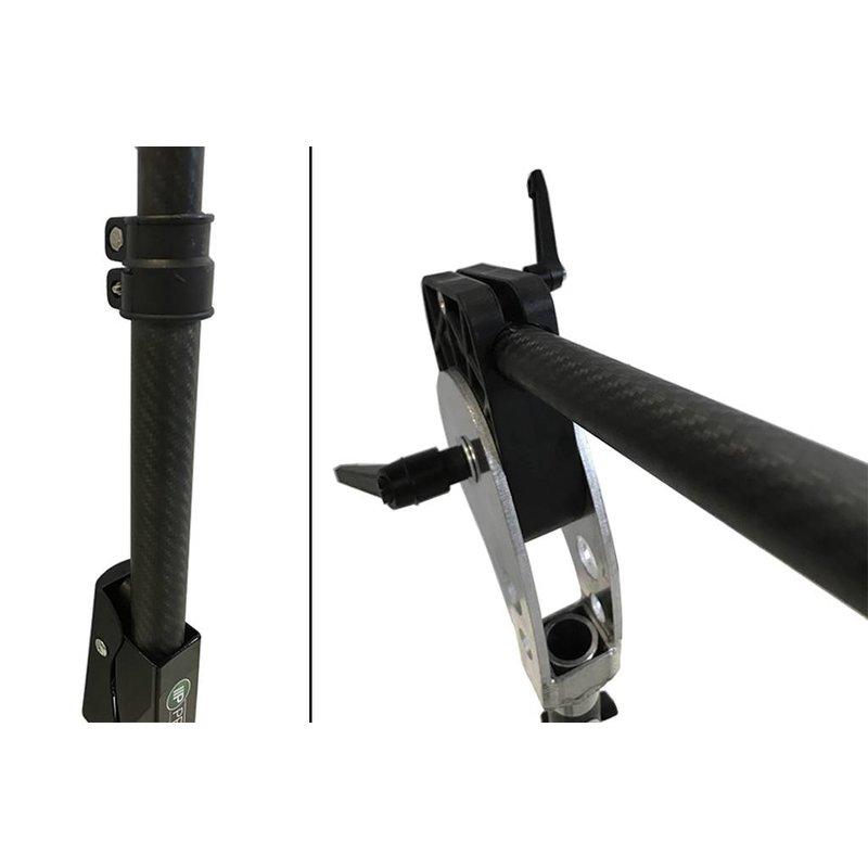 Carbon LS-3FH statief van Pro PDR met uitschuifbare arm