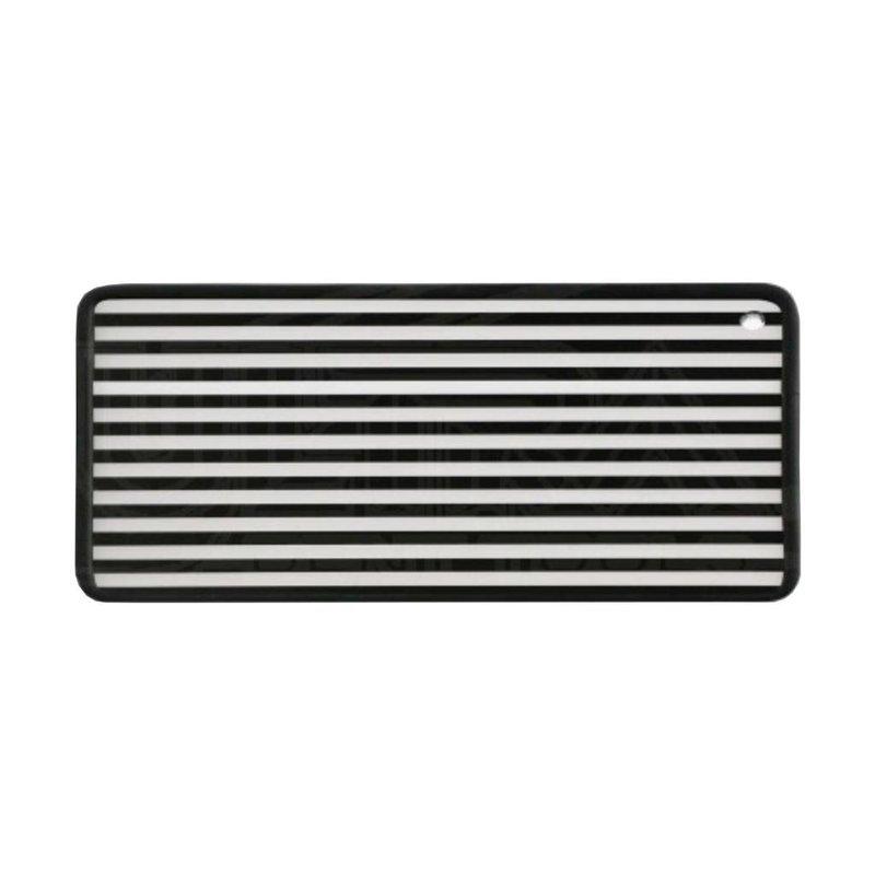 Striped DiBond Aluminum Reflection board with rubber edge trim
