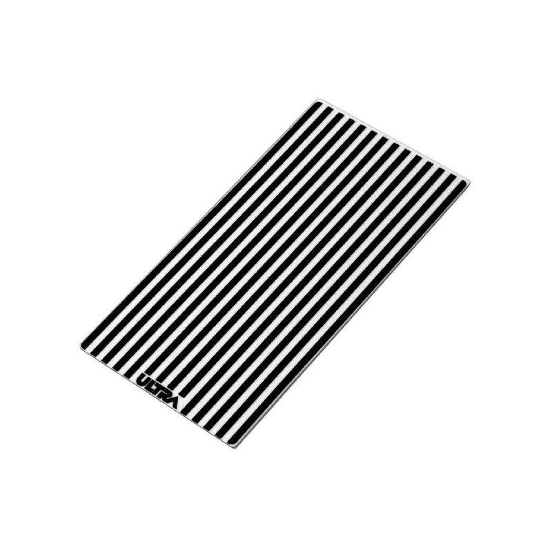 """12"""" (30,48 cm) Lens cover LED light white & black striped"""