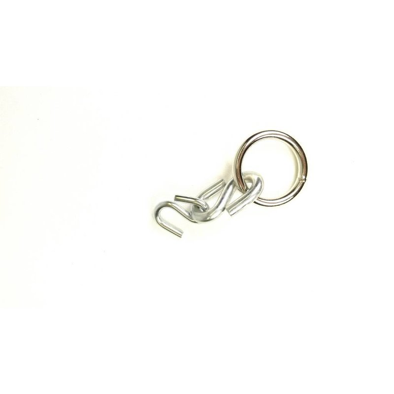 "S-Hook with 1-1/4"" wide O-Ring"
