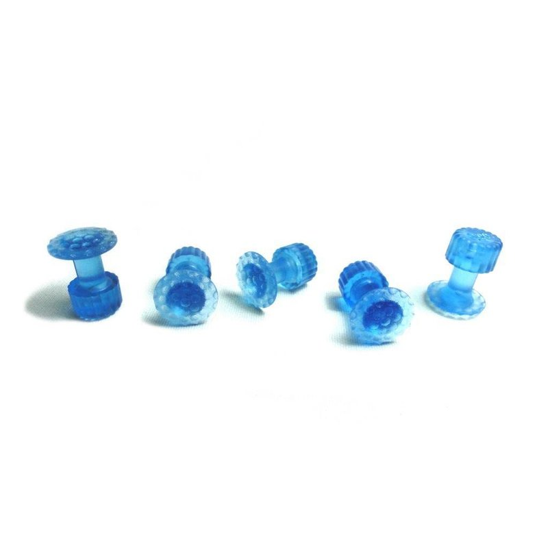 Keco 16 mm Ice Dimpled Round Hail Tab - 5 pcs