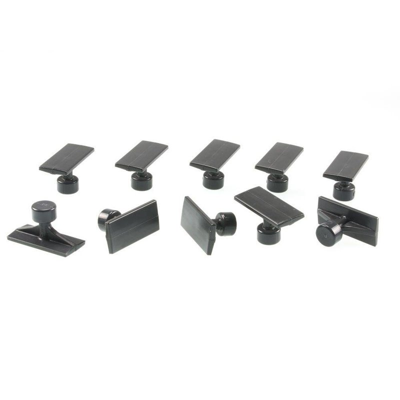 38 mm Black Plague Small Crease Tab - 10pcs