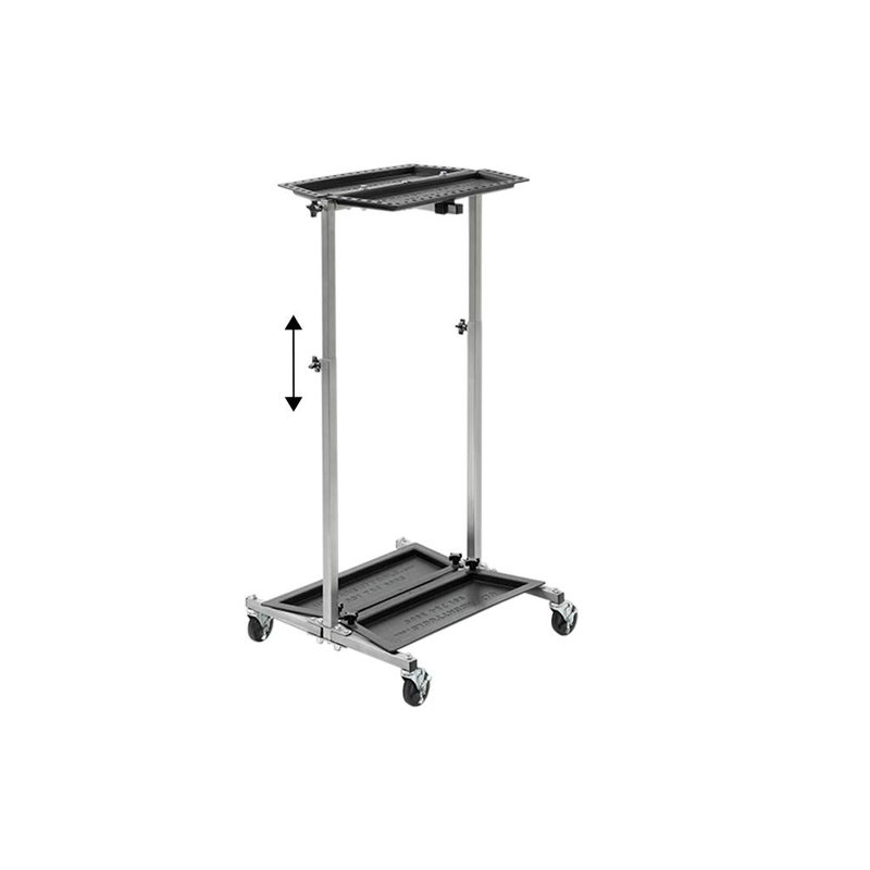 Ultra lightweight stainless steel PDR tool trolley from Ultradent