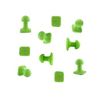 Tiddy Tools Tiddy Tab Green Square 14 mm - 10 pcs