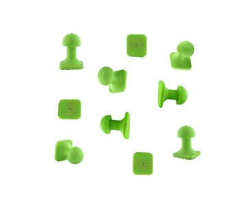 Tiddy Tools Tiddy Tab Green Square 14 mm - 10 pcs