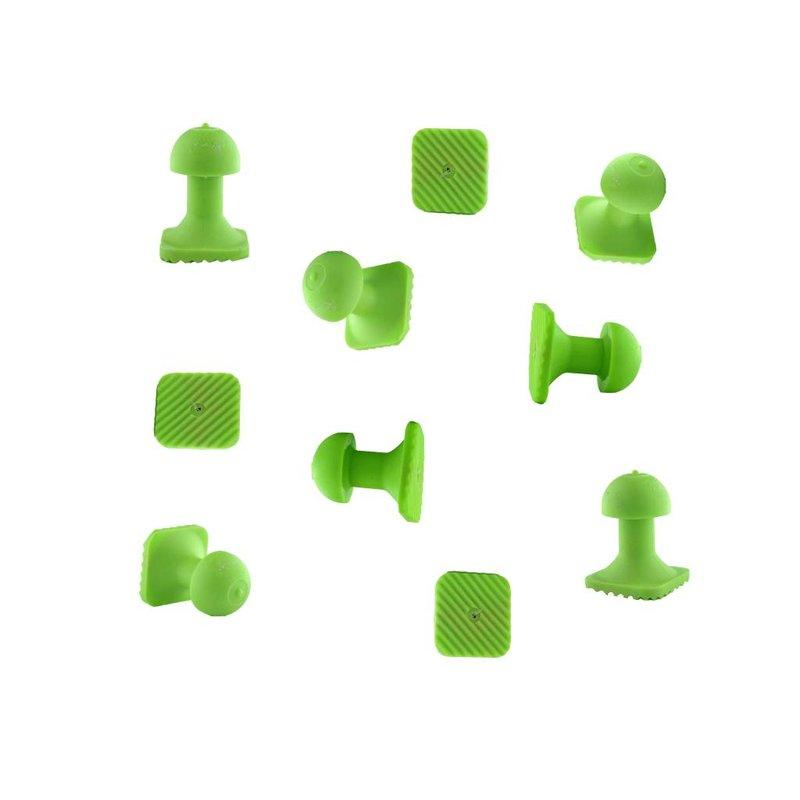 Tiddy Tab Green Square 14 mm