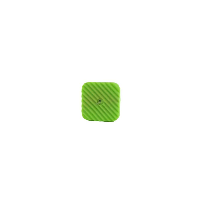 Tiddy Tab Green Square 14 mm - 10 pcs