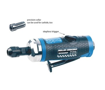 Müller-Werkzeug Amoladora neumática recta 24000 rpm
