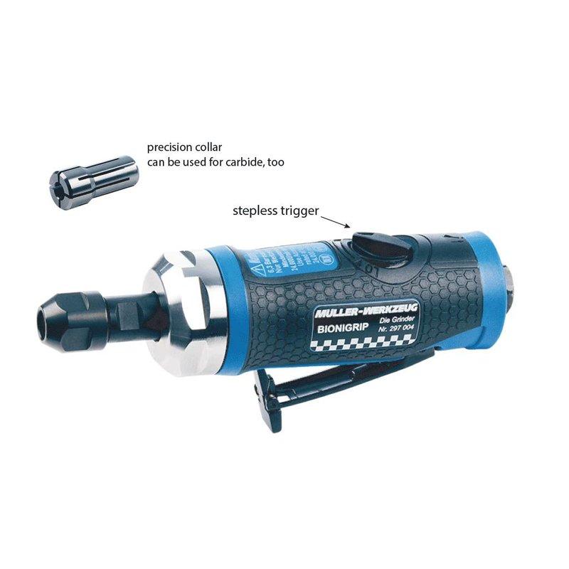 Meuleuse droite pneumatique 24000 tr/min Bionigrip