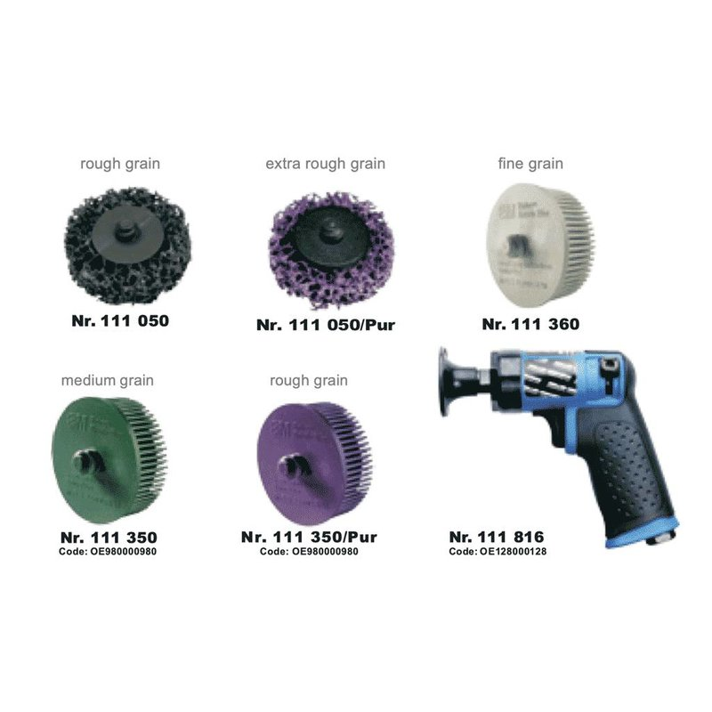 Smerigliatrice angolare pneumatica - Set da 16 pezzi