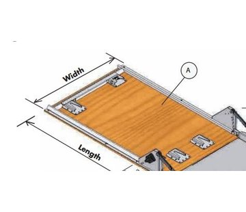 Dynnox Wooden ground plate with mounting kit for Dynnox L46
