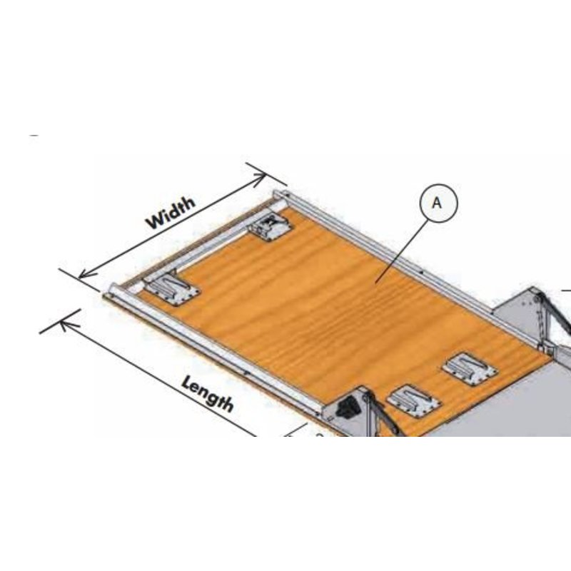 Wooden ground plate with mounting kit for Dynnox XL53