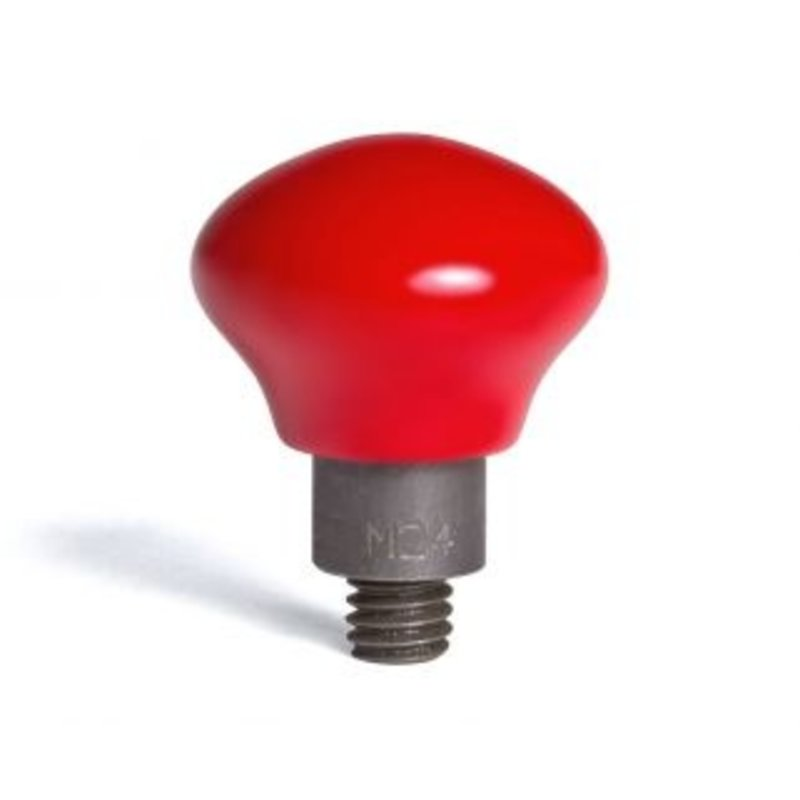 "Mushroom coated in hard red PVC 24/16"" (38,10 mm) working diameter"
