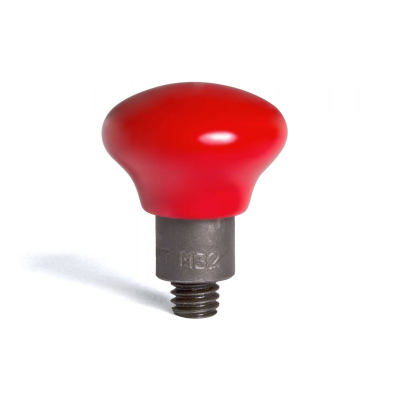 "Mushroom coated in hard red PVC 32/16"" (50,80 mm) working diameter"