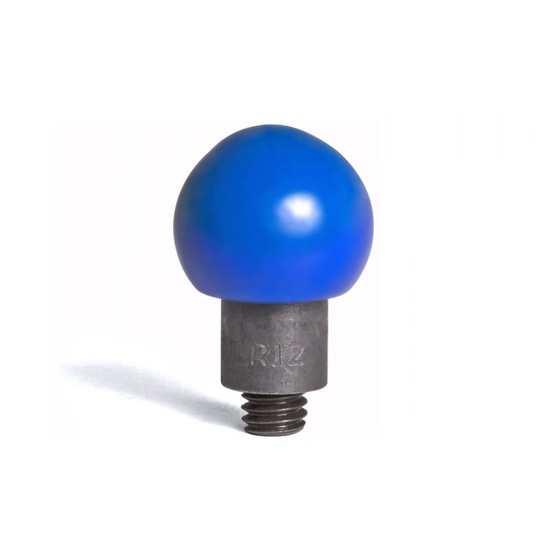 """Round steel tip coated in soft blue PVC 12/16"""" (19,05 mm) working diameter"""