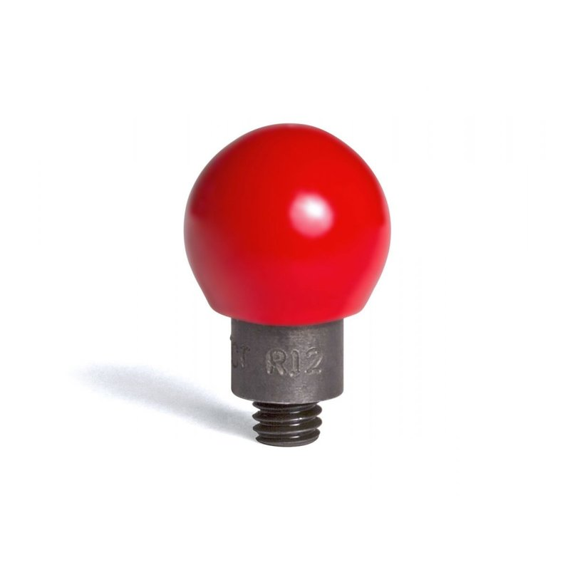 "Round steel tip coated in hard red PVC 12/16"" (19,05 mm) working diameter"