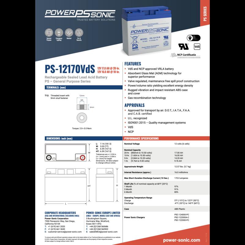 PowerSonic Batterie