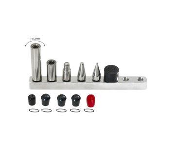 """Ultra Dent Tools Jeu d'embouts interchangeables: 4 embouts et 2 rallonges d'un diamètre de 7/16"""" (11 mm)"""