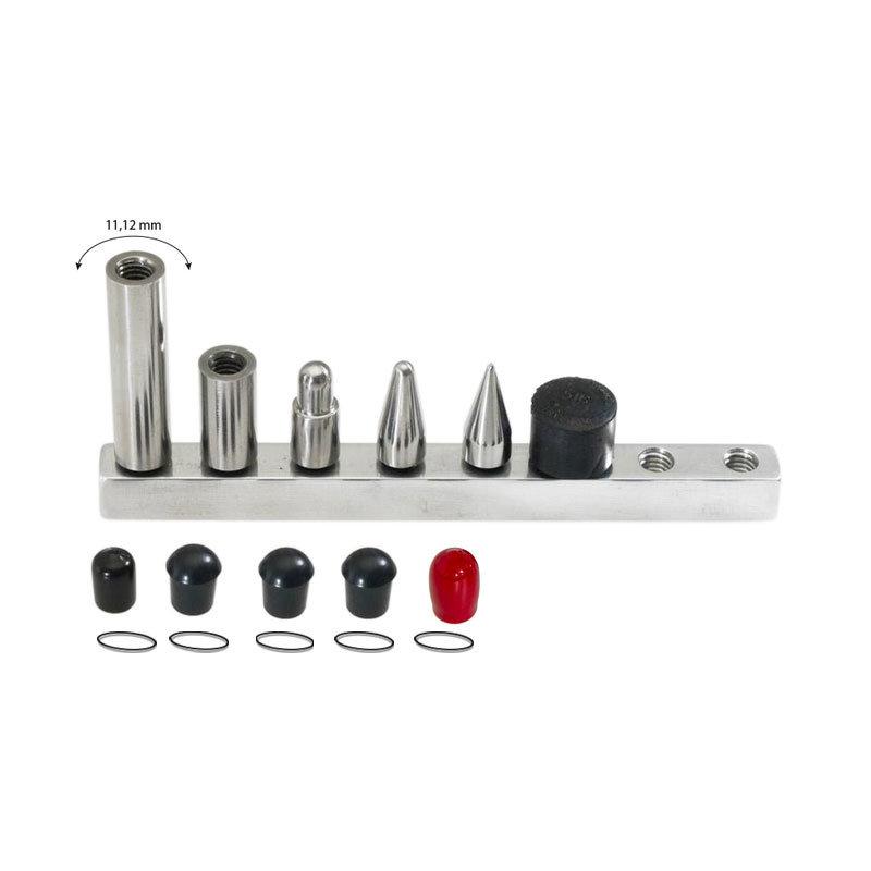 """Juego de puntas intercambiables: 4 puntas y 2 extensiones diámetro de 7/16"""" (11 mm)"""