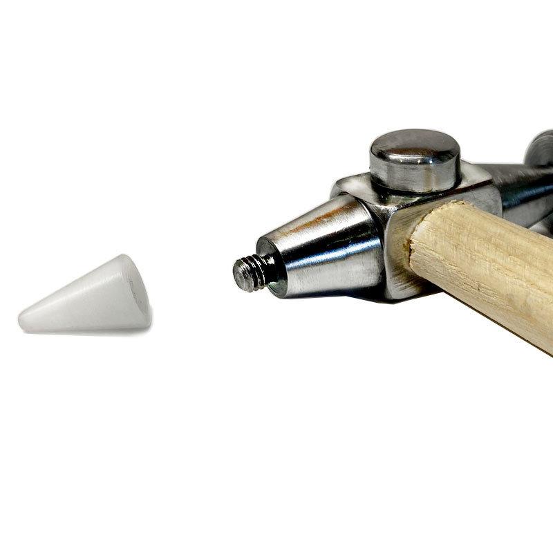 Witte tip voor Polished Dent hammer