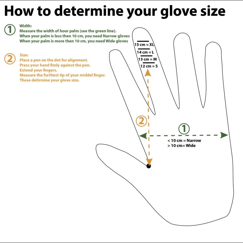 PDR guantes estrechos