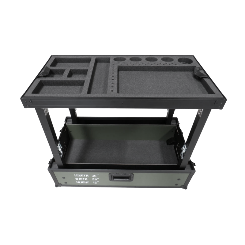 TDN Tool cart compact - black with 2 drawers (luxury version)