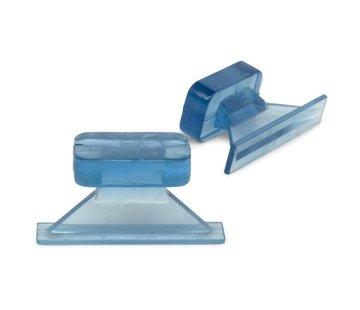 KECO Dead Center 33 x 7 mm Ice Straight Crease glue tabs - 5 pcs