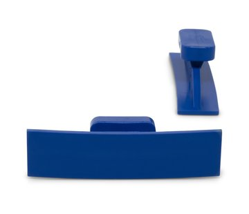 KECO Dead Center 55 x 14 mm Blue Curved Crease glue tabs - 5 pcs