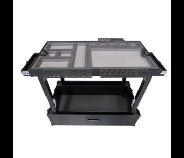 TDN Tools TDN Werkzeugwagen kompakt - schwarz mit 2 Schubladen (Luxusversion)