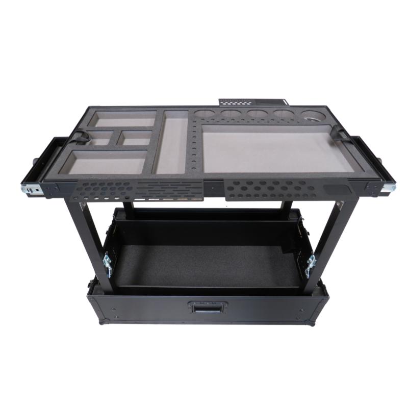 TDN Gereedschapskar compact - zwart met 2 lades (luxe versie)