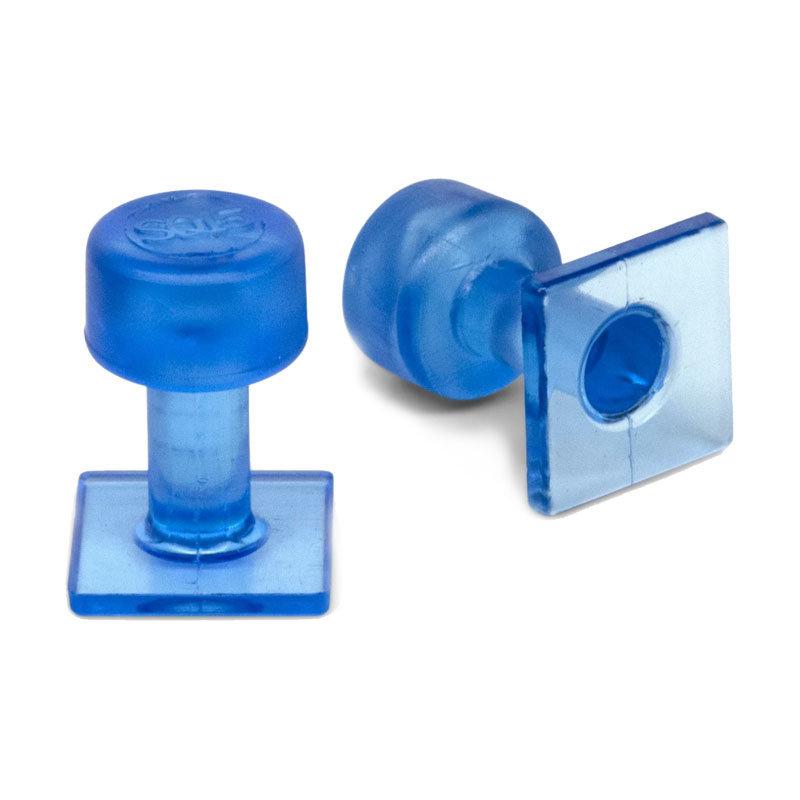 Black Ice 15 mm Smooth Square Glue Tab - 10 pcs