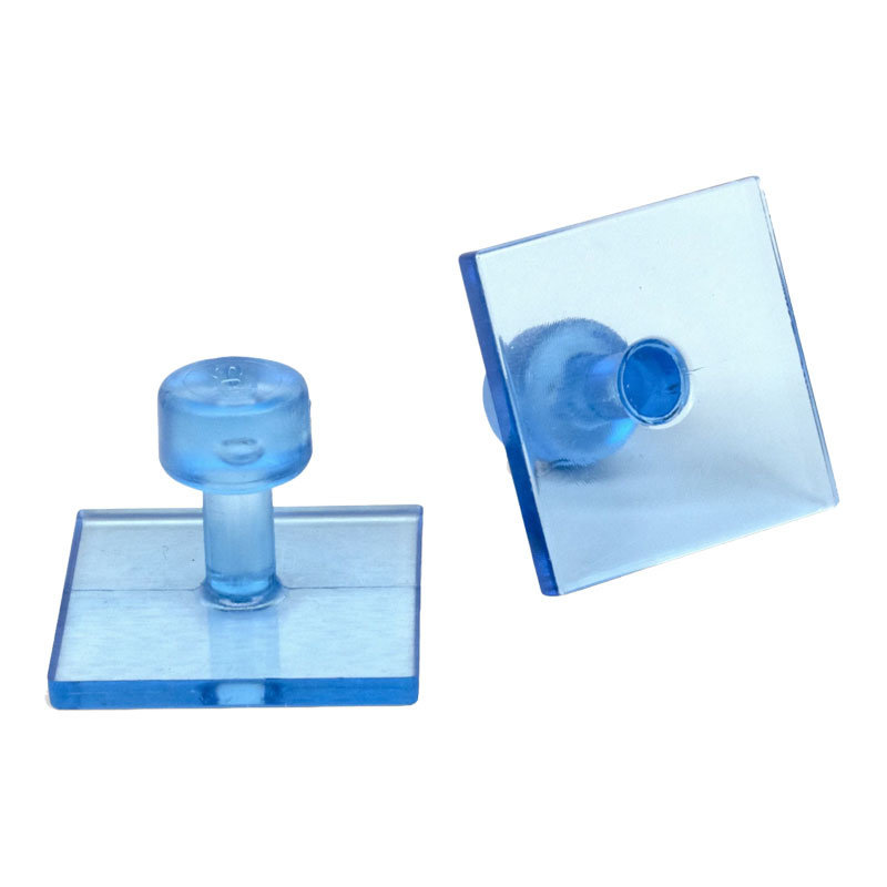 Black Ice 30 mm Smooth Square Glue Tab - 10 pcs