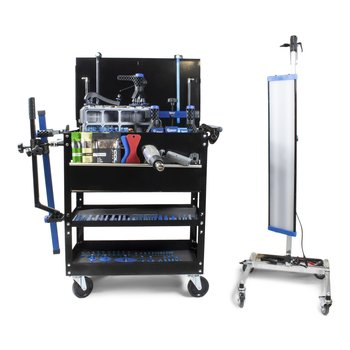 KECO Keco Level 2 Glue Pull Collision Manager Kit with Shop Light and Cart