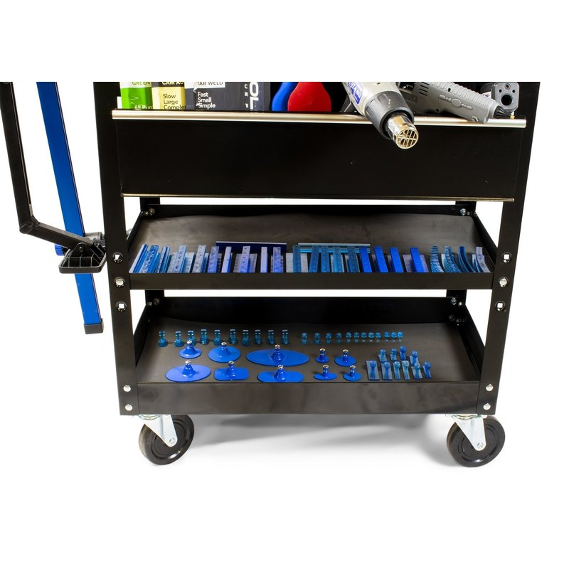 Keco Level 2 Glue Pull Collision Manager Kit with Shop Light and Cart