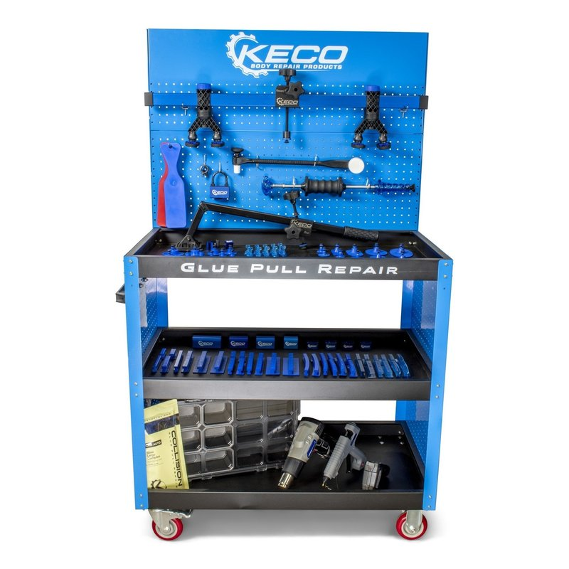 Keco Level 1 Glue Pull Collision Pro Kit with Cart - 220 V