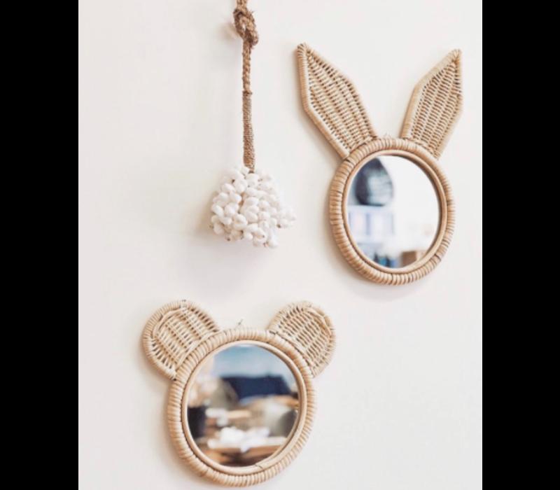 Rotan spiegeltje konijn