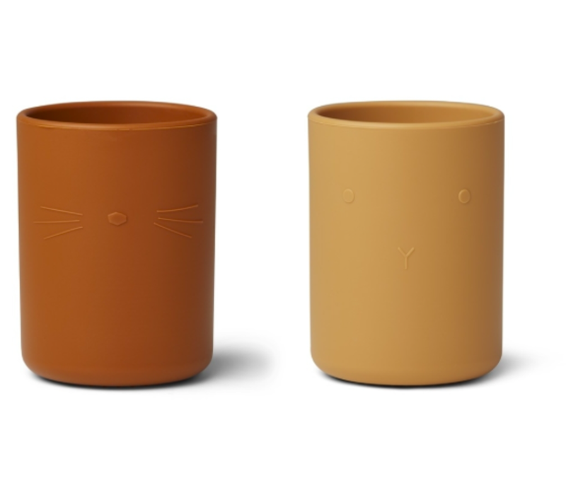 Ethan cup set/2 yellow mix