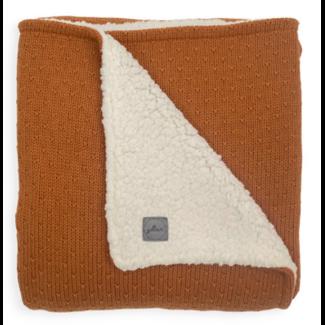 JOLLEIN Dekentje teddy 100x150 cm Bliss knit caramel