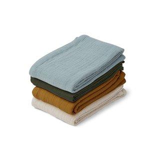 LIEWOOD Leon muslin cloth 4/pack blue multi mix
