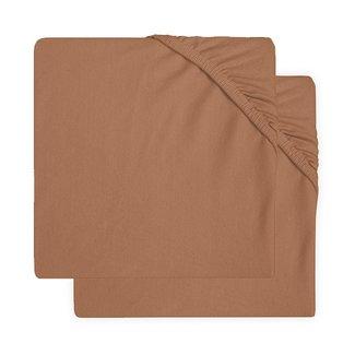 JOLLEIN Hoeslaken jersey caramel set/2 | 60x120 cm