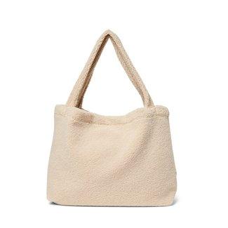 STUDIO NOOS Chunky ecru teddy mom bag