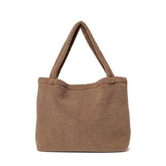 STUDIO NOOS Chunky brown teddy mom bag