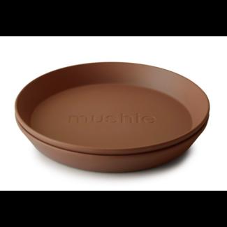 MUSHIE Bord set/2 rond caramel