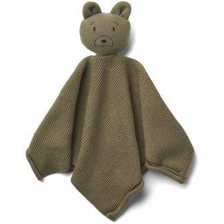 LIEWOOD Milo gebreide knuffeldoek mr bear khaki