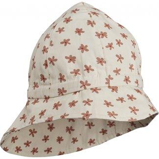 Sunneva sun hat floral/sea shell mix