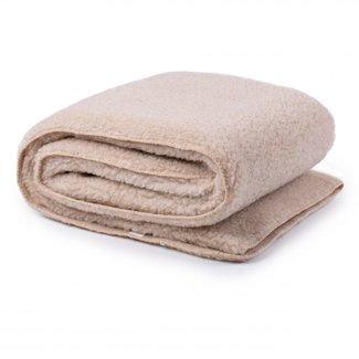Wollen deken beige