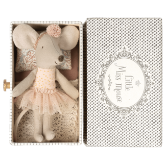 MAILEG Dance mouse in daybed, little sister